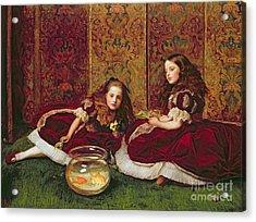 Leisure Hours Acrylic Print by Sir John Everett Millais