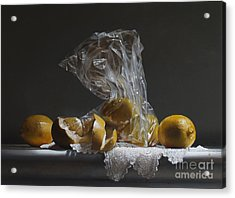 Lemons Acrylic Print by Larry Preston