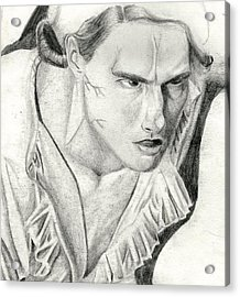 Acrylic Print featuring the drawing Lestat by Michael McKenzie