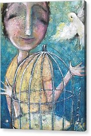 Let It Go Acrylic Print by Eleatta Diver