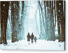 Let It Snow Acrylic Print by Marji Lang