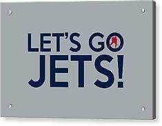 Let's Go Jets Acrylic Print