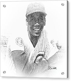 Ernie Banks Acrylic Print