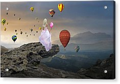 Acrylic Print featuring the mixed media Letting Go by Marvin Blaine