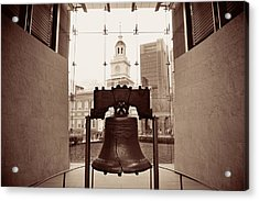 Acrylic Print featuring the photograph Liberty Bell  by Songquan Deng