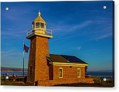 Lighthouse Point Acrylic Print by Garry Gay