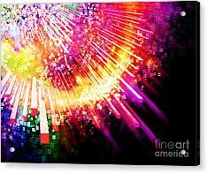 Lighting Explosion Acrylic Print by Setsiri Silapasuwanchai
