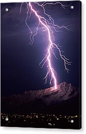 Lightning Over Tucson Acrylic Print by Keith Kent