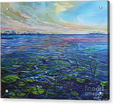 Lilly Pads  Acrylic Print by Michele Hollister - for Nancy Asbell