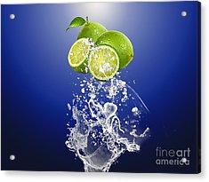 Lime Splash Acrylic Print