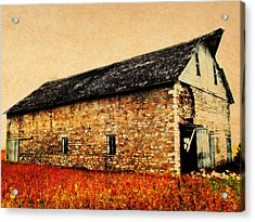 Lime Stone Barn Acrylic Print