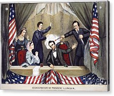 Lincoln Assassination Acrylic Print by Granger