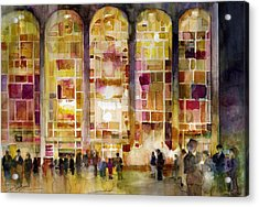 Lincoln Center Acrylic Print by Dorrie Rifkin