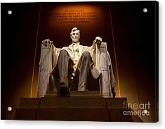 Lincoln Memorial At Night - Washington D.c. Acrylic Print