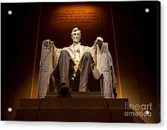 Lincoln Memorial At Night - Washington D.c. Acrylic Print