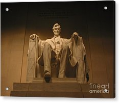 Acrylic Print featuring the painting Lincoln Memorial by Brian McDunn