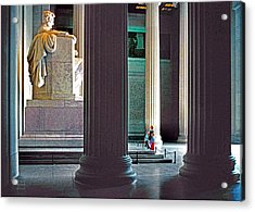 Lincoln Memorial Acrylic Print by Dennis Cox