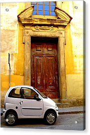 Little Car Of Florence Acrylic Print by Jen White