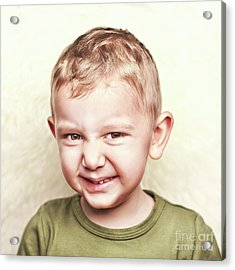 Little Child Portrait Acrylic Print by Gualtiero Boffi