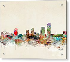 Acrylic Print featuring the painting Little Rock Arkansas by Bri B