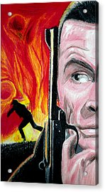 Acrylic Print featuring the drawing Live And Let Die by Michael McKenzie