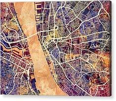 Liverpool England Street Map Acrylic Print