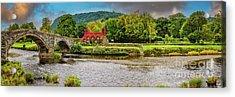 Llanrwst Bridge And Tea Room Acrylic Print