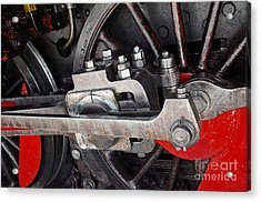 Locomotive Wheel Acrylic Print by Carlos Caetano