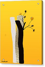 Log Flowers Acrylic Print by Asok Mukhopadhyay