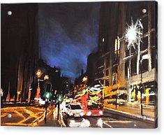 London Oxford Street Acrylic Print by Paul Mitchell