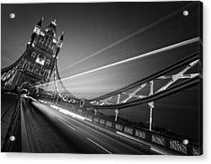 London Tower Bridge Acrylic Print by Nina Papiorek