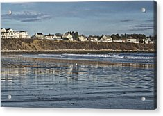 Long Sands Beach - York - Maine Acrylic Print by Steven Ralser