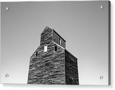 Looking At An Old Grain Elevator Acrylic Print by Todd Klassy