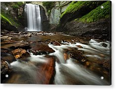 Looking Glass Falls Acrylic Print by Andrew Soundarajan