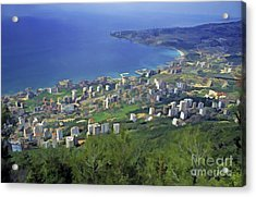 Looking Over Jounieh Bay From Harissa Acrylic Print by Sami Sarkis