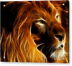 Lord Of The Jungle Acrylic Print by Wingsdomain Art and Photography