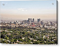 Los Angeles California - Glitter And Trouble Acrylic Print by Christine Till