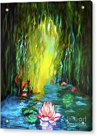 Lotus And Lily Pads Acrylic Print