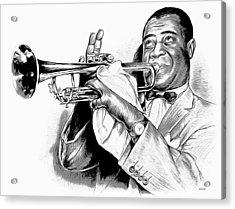 Louis Armstrong Acrylic Print by Greg Joens