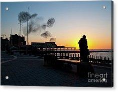 Love Birds At Sunset Acrylic Print