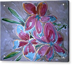 Love Flowers Acrylic Print by Baljit Chadha