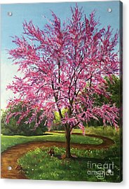Acrylic Print featuring the painting Love Is In The Air by Nancy Cupp