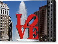 Love - Philadelphia Acrylic Print