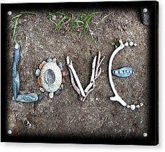 Love Acrylic Print by Tanielle Childers