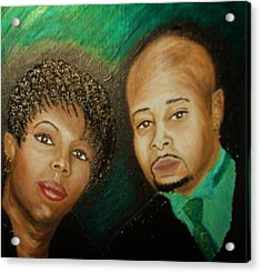 Lovers And Friends Acrylic Print by Keenya  Woods