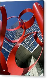 Low Angle View Of A Sculpture In Front Acrylic Print