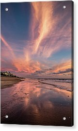 Acrylic Print featuring the photograph Low Tide Mirror by Debra and Dave Vanderlaan