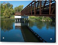 Lower Yahara River Trail 3- Madison - Wisconsin Acrylic Print