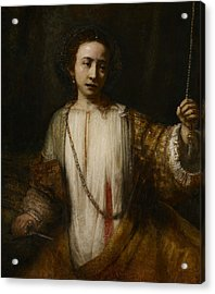 Lucretia  Acrylic Print by Rembrandt