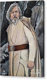 Luke Skywalker Acrylic Print by Tom Carlton